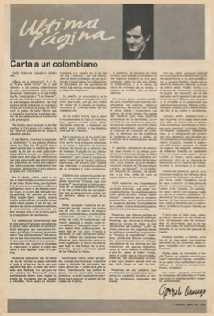 Carta a un Colombiano